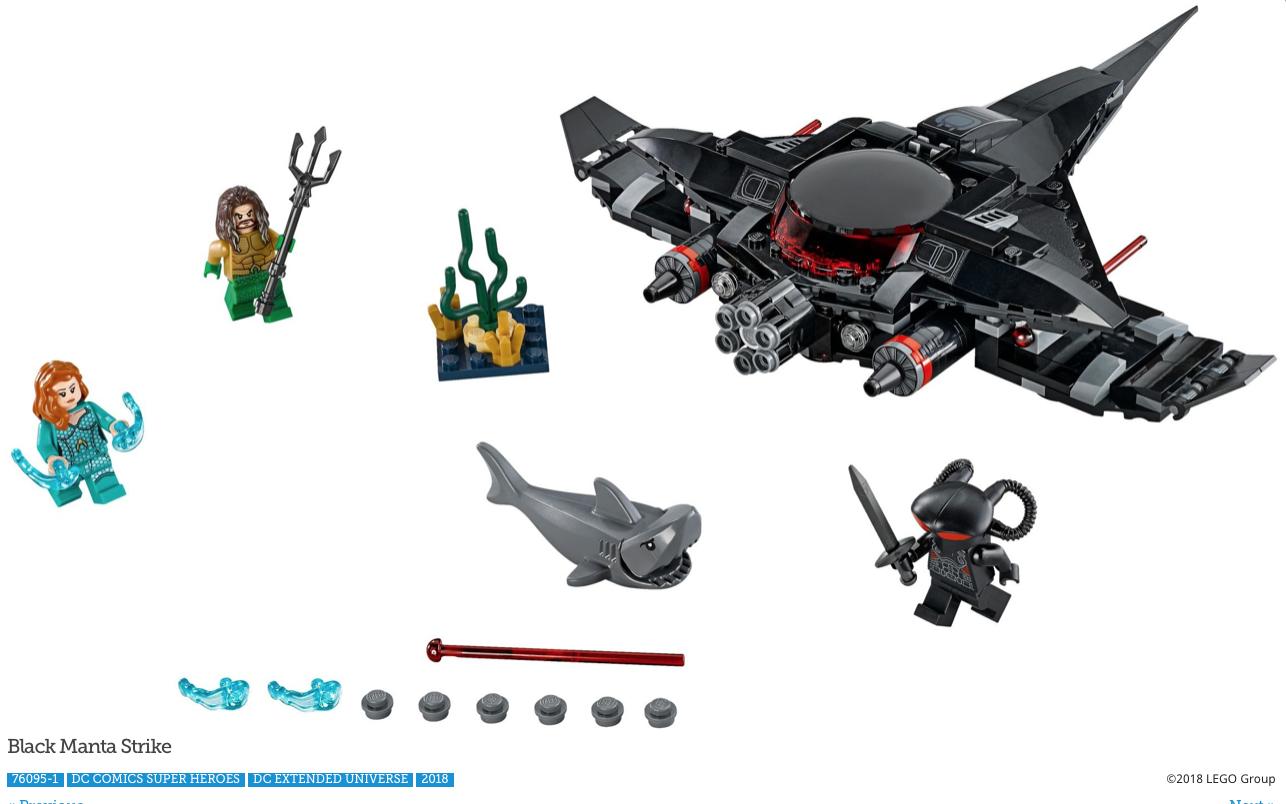 LEGO DC Super Heroes Aquaman MINIFIG from Lego set #76095 New Aquaman Movie